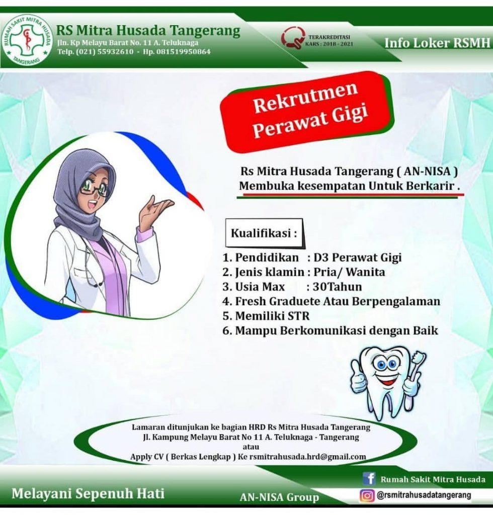 Lowongan Kerja Bagi Lulusan D III Keperawatan Gigi di RS Mitra Husada Tangerang